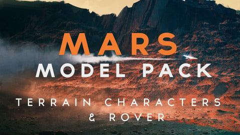 Mars - Model Pack - 8k 32Bit Terrain + 7 Posed Characters + Rover