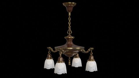 Antique Hanging Pan Lamp