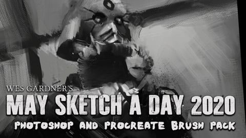 Wes Gardner's May Sketch A Day 2020 Brush Pack
