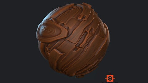 Stylized Bark Material
