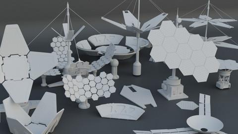 15 Sci-Fi Solar panels pieces