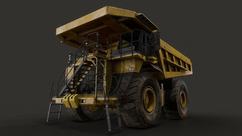 Mining Dump Truck - Low Poly