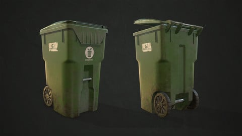 Plastic Trash Bin with Garbage Bags