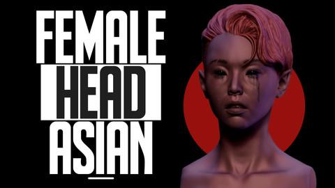 Female Head - Asian