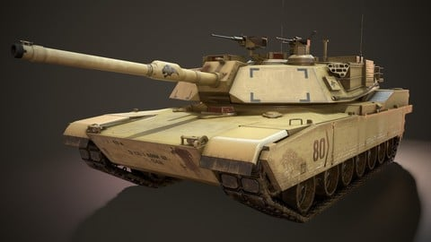 M1A2 Abrams Tank - Low Poly