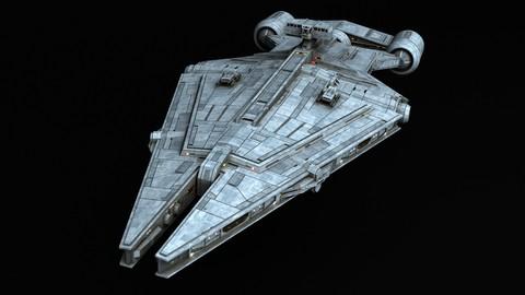 Star Wars Arquitens-class Light Cruiser 3d model