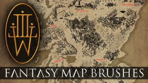 Fantasy Map Brush Set