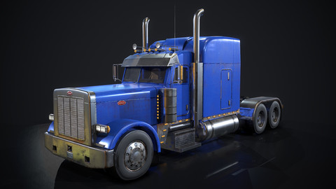 Peterbilt Truck - Low Poly