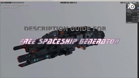 ( Almost ) Free Procedural Spaceship Maker blend file