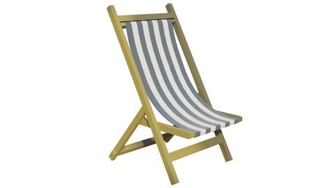 Low Poly Beach Chair w/ Textures (.blend, .obj)