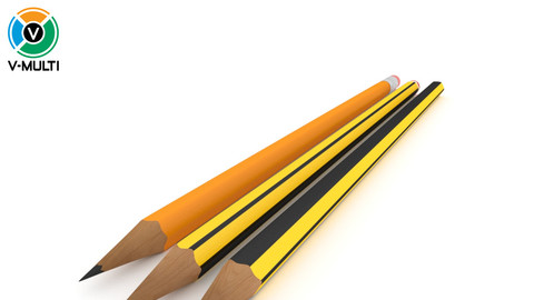 3D Model: Graphite Pencils