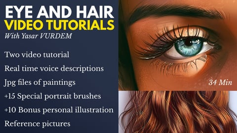 Eye and Hair Painting - Two Tutorial Bundle