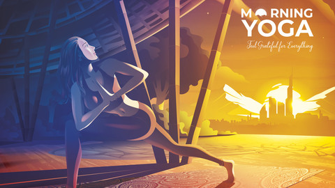 Morning Yoga Vector Illustration