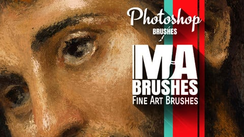 Photoshop Brushes for Digital Painting - MA-BRUSHES / Concept Brushes / Texture Brushes / Painterly Oil Brush Pack