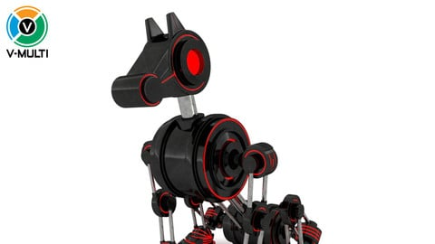 3D Model: Geom Robot Dog Rigged