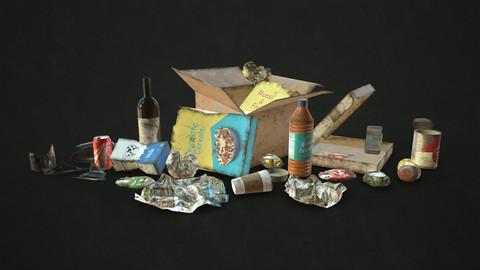 Urban Trash - Low Poly