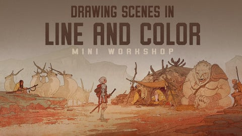 Drawing Scenes in Line and Color