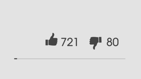 like dislike Animation