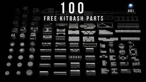 100 Free Kitbash Parts