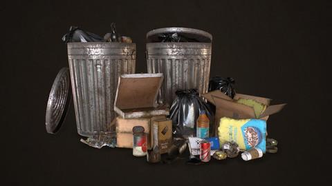 Urban Trash Pack Vol 1 - Low Poly