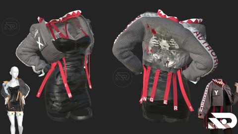 women's Jacket /dress. Marvelous Designer, project files