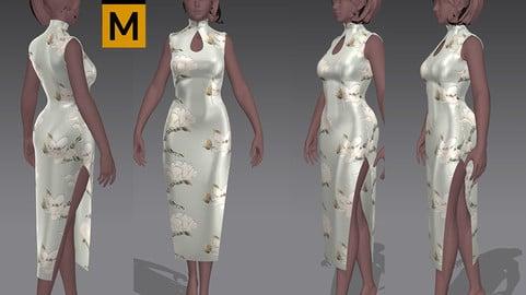 cheongsam Chi-pao chirpaur cheong-sam Marvelous Designer project