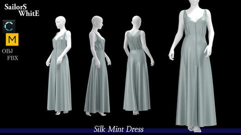 Silk Mint Dress