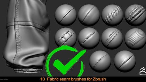 Fabric seam brushes