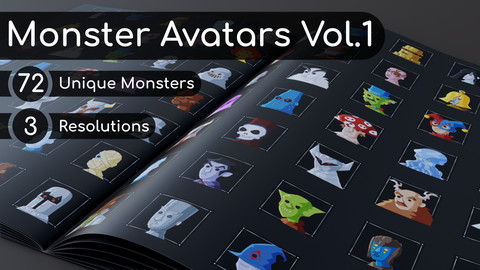 72 Monster Avatars Vol. 1