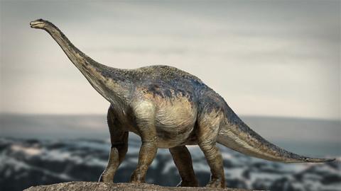 Argentinosaurus Rigged 3D model