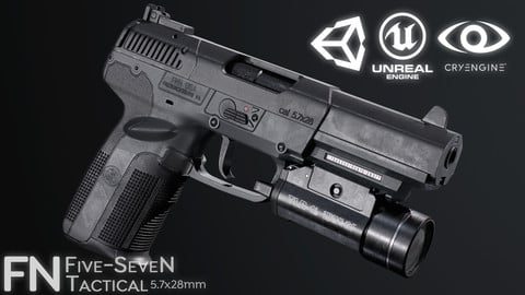 Tactical FN Five SeveN (Game Ready - Gun)
