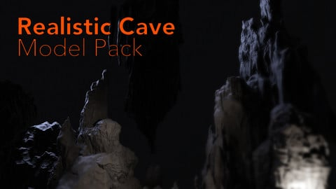 Realistic Cave Pack - High Poly Models