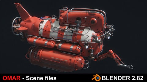 Lobster Submersible - Scene files Blender, FBX