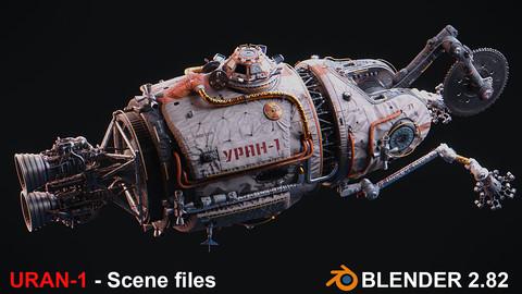 URAN Spacecraft - FBX, 3ds Max, Blender (Scene files)