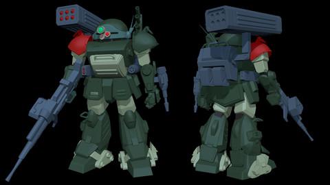 ATM-09-ST Armored Trooper VOTOMS Scope Dog Red Shoulder Custom (Version 01)