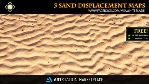 ZBrush/Mudbox - Sand Displacement Maps | FREE