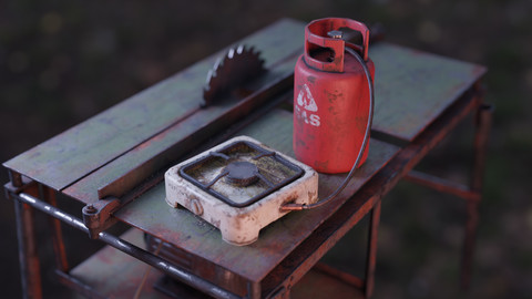 Small Old Gas Stove