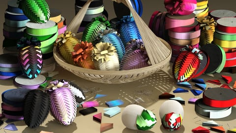 Crafting: Ribbon Eggs
