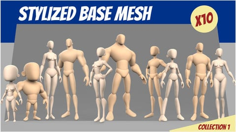 Stylized Base Mesh Collection