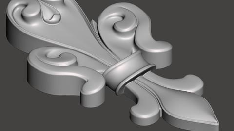 Liz flower - 3d model for CNC - LizFlowerCFC01