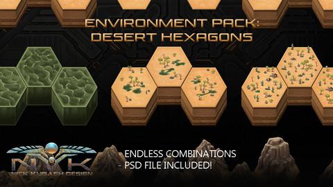 Environment Pack: Desert Hexagons