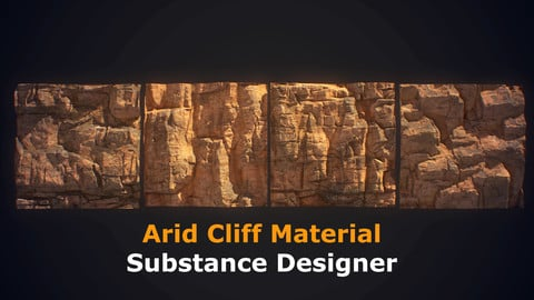 Arid Cliff Material - Substance Designer