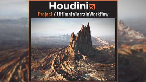 SideFX Houdini Indie / Ultimate Terrain Workflow -  .hiplc file  / .Objs / AL Tools