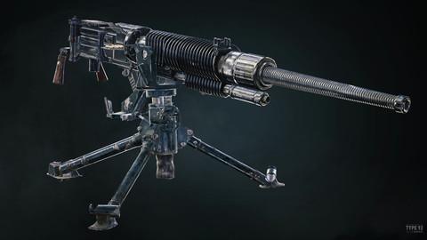 Type 92 Heavy Machine Gun - Game Ready