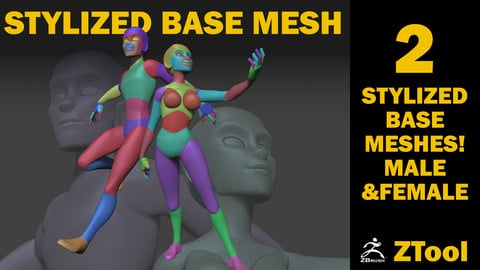 Stylized Base Mesh Set