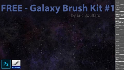 12 Galaxy Brushes for Photoshop