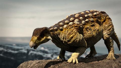 EuropeltaSaurus 3D Rigged model