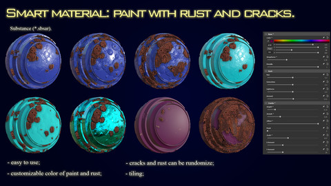 Smart material: paint with rust and cracks.