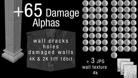 +65 damaged alphas (4K & 2K)
