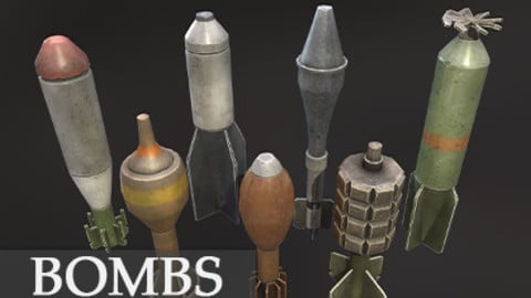 Stylized bombs pack